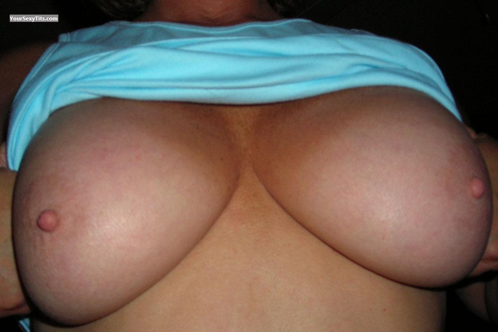 Tit Flash: Medium Tits - Onesweetfa from Canada